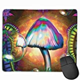 Professional Gaming Mouse Pads Color Mushroom Laptop Pad Non-Slip Rubber Stitched Edges 18X22cm