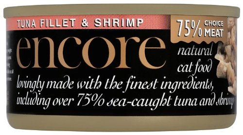 Encore Cat Food Natural Tuna and Shrimp 70g (Pack de 9)