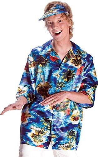 Mottoland Herren Kostüm Hawaii Hemd mit Kappe zu Karneval Fasching Gr.58