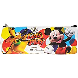 Disney Mickey Mouse Waterproof Canvas Made Pen / Pencil Bag (Pack Of 12 Pcs)