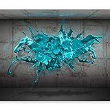 murando - Fototapete 400x280 cm - Vlies Tapete - Moderne Wanddeko - Design Tapete - Wandtapete - Wand Dekoration - Klecks Farbe a-A-0186-a-c