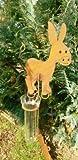 Regenmesser in Edelrost verschiedene Tiermotive ca. 140cm