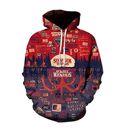 JJHR 3D Hoodie Sweatshirts Digitaldruck Beiläufige Mit Kapuze Strickjacke Lose Mantelbluse, 5XL