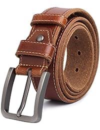 9e9264a68e0 Jeans de cuero de grano completo Cinturones Clásico de cuero genuino  Cinturón de diseñador de calidad para hombres Correa de piel de…