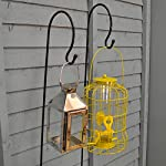 Selections 2 x Shepherd's Crook Hook Stand for Bird Feeders & Candle Lanterns 1m 11