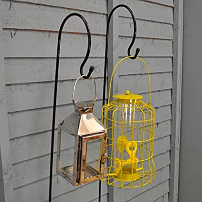 Selections 2 x Shepherd's Crook Hook Stand for Bird Feeders & Candle Lanterns 1m 4