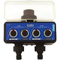 Aqua Control C4011 - Programador de riego para grifo con dos salidas independientes.