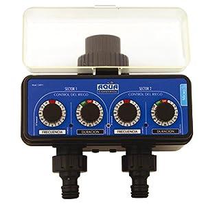 Aqua Control C4011 – Programador de Riego para Jardín – Para todo tipo de Grifos – Con 2 salidas independientes