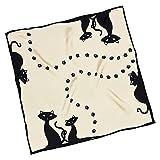 VON LILIENFELD Foulard di seta piccolo'Gatti neri'