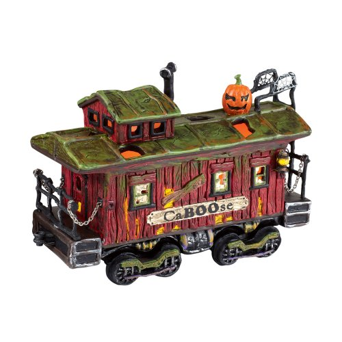 illage Halloween Haunted Rails Caboose ()