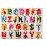 SuperToy(TM) Wooden Alphabet Puzzle With Knobs (Capital Letters)