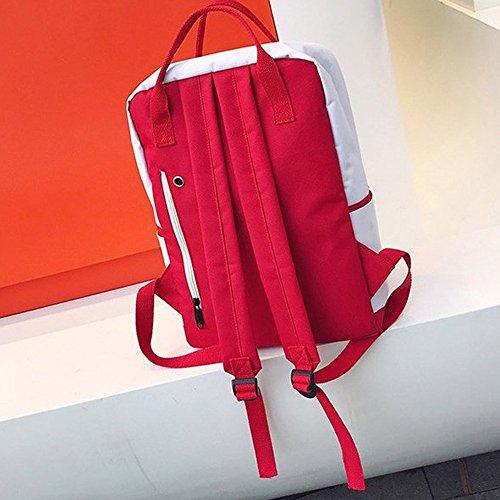 Rucksack,Rucksack Mädchen Backpack Schultaschen Für Herren Tasche Wanderrucksack Reiserucksack Freizeit Reißverschlusstasche Student Rucksack Falttasche Paar Reisetasche Umhängetasche(rot) -