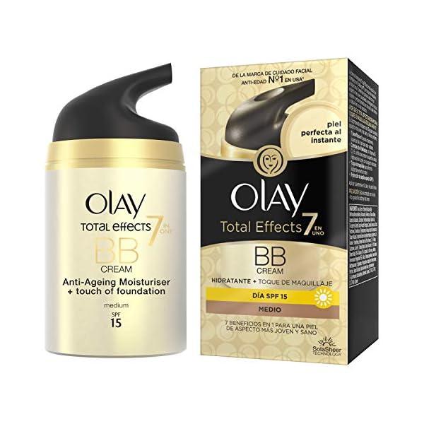 Olay Total Effects 7 en 1 BB Cream Anti-Edad Tono Medio SPF15, Blanco – 50ml
