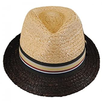 4433552ac105f2 Jaxon & James Trinidad Straw Trilby Hat - Natural: Amazon.co.uk: Clothing