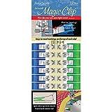 Taylor Seville Stoffklammern Magic Clips, Klein Kurzwaren, Metall/Kunststoff, Blau/grün, 30 x 12,5 x 2,5 cm, 12-Einheiten