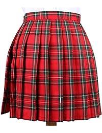 0b542c428986 Cheerlife Mädchen Damen Faltenröcke Kariert Röcke Minirock kurz Skirt  Schuluniform Cosplay Rock