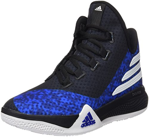 adidas Unisex Baby Light EM UP 2 J Basketball Turnschuhe, Blau / Weiß / Schwarz (Reauni / Ftwbla / Negbas), 36 EU