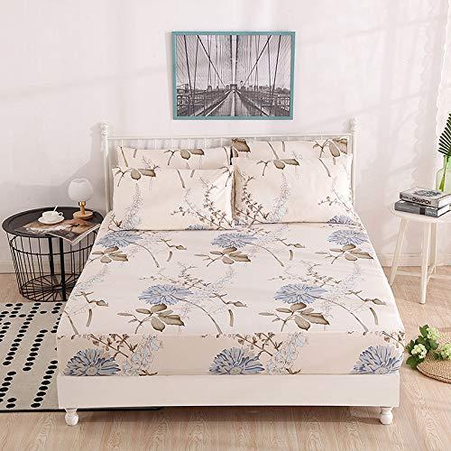 Hllhpc Für rutschfeste, staubdichte und komfortable Bettdecke aus hautfreundlicher Baumwolle Simmons Anti-Dirty-Sanding-Bettdecke Bettzeug wie Wasserdurchfluss Jahr Passender Kissenbezug aus Blumen -
