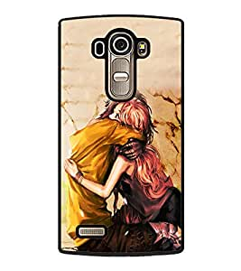 Fuson Premium 2D Back Case Cover I love you With blue Background Degined For LG G4::LG G4 H815