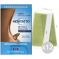 Set 12 KONTATTO Strips Enthaarende Body X20 K111 Depilazione preisvergleich bei billige-tabletten.eu