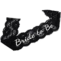 Elegant Black Lace Bride to Be Sash