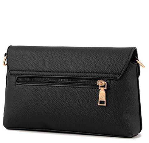 Damen Mini Messenger Tasche Umhängetasche Black