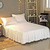 B Blesiya Elastische Bettdecke Bettw/äsche Bett Rock Bettrock Bettsch/ürze Beige-150x200cm Farbwahl