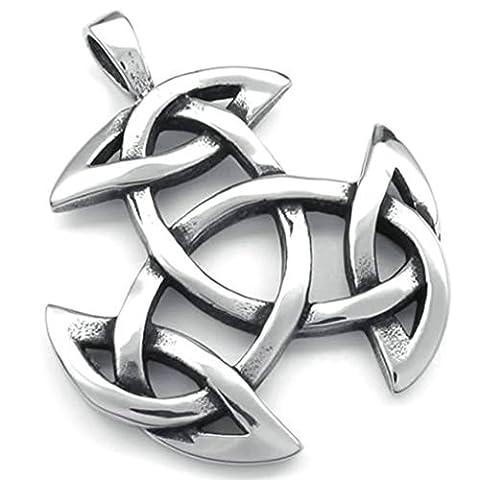 AMDXD Bijoux Rétro Collier,Acier Inoxydable Colliers Pendants pour Homme Celtique Noeud Amulet 26