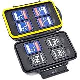 Boîte de protection espaces de memoire – étanche et extrême solide – pour 8 x SD (HC) / (XC)