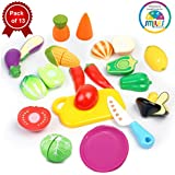 Smiles Creation Realistic Sliceable Fruits Cutting Play Toy Set with Velcro for Kids