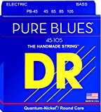 DR Strings Pure blues 45-105 Jeu de 4 Cordes de Basse électrique