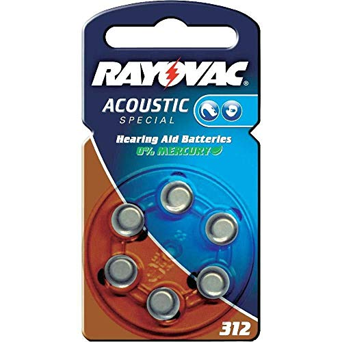 60 Batterien Rayovac RA-Acoustic-312 Hörgerätebatterien (Typ: 312)