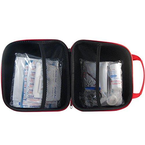 Nowaberg Medical Supplies Erste-Hilfe-Set mit CE-Kennzeichnung für Sport, zu Hause, im Büro, im Wohnwagen, beim Camping, bei Ausflügen oder auf Reisen. Tasche mit 85-teiligem Inhalt für den Notfall - 6