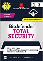 BitDefender Total Security Latest Version - 1 User, 3 Years (Email Delivery in 2 hours- No CD)
