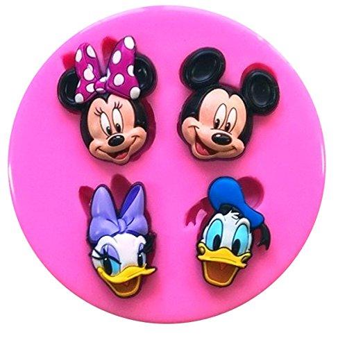 Micky Maus Minnie Maus Donald Duck Daisy Duck Silikon Silikonform für Kuchen dekorieren KUCHEN, Cupcake Topper Zuckerguss Sugarcraft von Fairie, Blessings