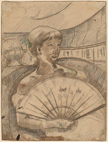 Mary Cassatt - In the Opera Box - Large - Semi Gloss - Black Frame