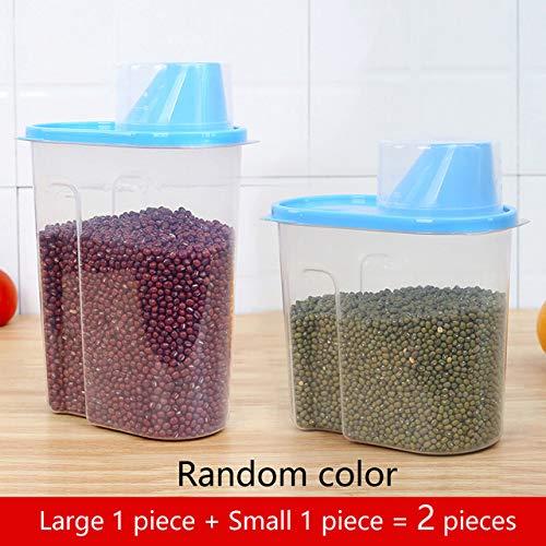 niuniuniu Pp Frischhaltedose Kunststoff Transparent Container Set Mit Deckel Küche Vorratsflasche Gläser 1.9l-2.5l L1-S1 Butterfly Ginger Jar