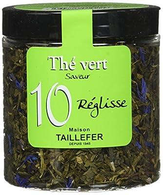Maison Taillefer Thé Vert Réglisse Pot 70 g - Lot de 4