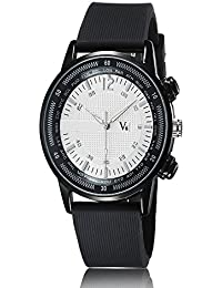 iSweven Simple and stylish V6 Series Mens big dial quartz casual watch Analogue Black Unisex Wrist Watch w1057a