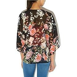❤️ Amlaiworld Cárdigans mujer Cárdigan de gasa de Boho Kimono flojo floral vintage Chaqueta de abrigo bikini cubrir Camisolas y pareos de playa ( Como se muestra, L)