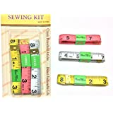 """3X Cloth Body Soft Tape Measure 150CM/1.5M/60"""" Flat Tailor Sewing Kit Ruler Diet"""