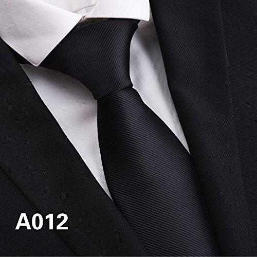 GENTLEE TIE 'S Tie Männer schlichte schwarze Anzüge Karriere Business dunklen Twill stripe breite Version der Arbeit von Seide und vielseitige Schwarz 8 CM, (Wolle Anzug Herren Stripe)