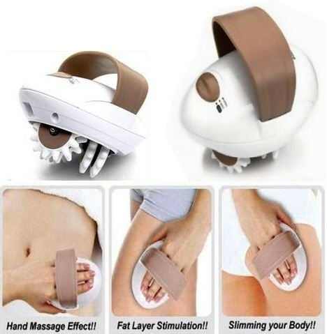 Dtes Electric Body Slimmer Roller Loss Weight Slimming Massager Handle Device2attachments
