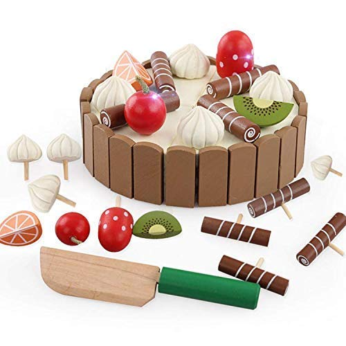 Wooden Toy Tea Set 50+ Pcs with Storage Box Pretend Play Food