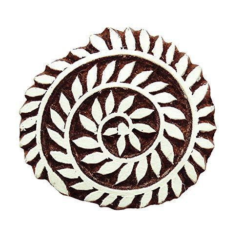 PEEGLI Indische Hölzerne Textildruck Klotz Blatt Elegante Entwurfs Tattoo Dekorative Exklusive Muster Hand Geschnitzt DIY Sammelalbum Projekte Für Ton -
