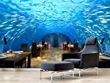 Kuamai 3D Fototapete die Unterwasserwelt Home Decor 3D Wandbilder Hintergrundbilder für Wohnzimmer Flur TV-Kulisse-120 X 100 CM