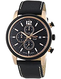 Boccia Herren-Armbanduhr XL Chronograph Quarz Leder 3759-02