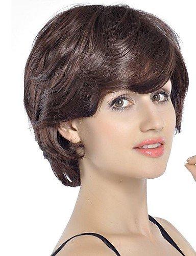 Fashion court cheveux bouclés perruque glamour perruque avec capuchon