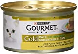 Gourmet Gold Paté per il Gatto, con Verdure, con Pollo, Carote e Zucchine, 85 g - Confezione da 24 Pezzi