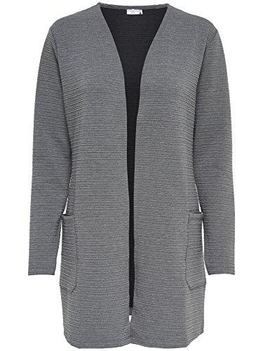 JACQUELINE de YONG Sweatshirtjacke Strickjacke JDYCRAVE LONG CARDIGAN 15145860 Dark Grey